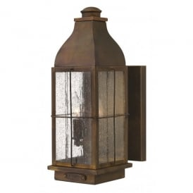 HK/BINGHAM/M Hinkley Bingham Medium 2 Light Cast Brass Wall Lantern in Sienna Finish