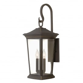 HK/BROMLEY2/L Bromley 3 Light Large Wall Lantern in Oil Rubbed Bronze Finish with Clear Glass