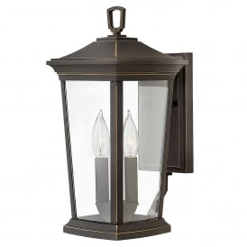 HK/BROMLEY2/M Bromley 2 Light Medium Wall Lantern in Oil Rubbed Bronze Finish with Clear Glass