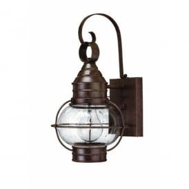 HK/CAPECOD2/L Hinkley Cape Cod Single Light Outdoor Lantern in a Sienna Bronze Finish