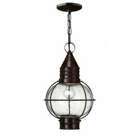 HK/CAPECOD8/L Hinkley Cape Cod Large Single Light Pendant Fitting in Sienna Bronze Finish