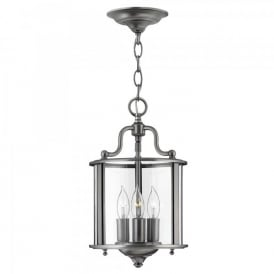 HK/GENTRY/P/S PW Hinkley Gentry 3 Light Ceiling Pewter Finish