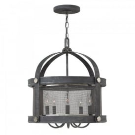 HK/HOLDEN5 DZ Hinkley Holden 5 Light Ceiling Pendant In Aged Zinc Finish