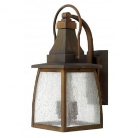 HK/MONTAUK M Hinkley Montauk 2 Light Solid Brass Outdoor Wall Lantern in a Sienna Finish