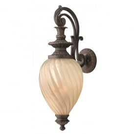 HK/MONTREAL/M Hinkley Montreal Medium Single Light Outdoor Wall Lantern in an Aged Iron Finish