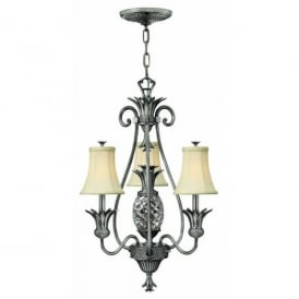 HK/PLANT3 PL Hinkley Plantation 4 Light Chandelier Style Ceiling Fitting in Polished Antique Nickel Finish