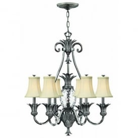 HK/PLANT7 PL Hinkley Plantation 7 Light Chandelier Style Ceiling Fitting in Polished Antique Nickel