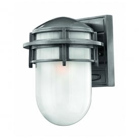 HK/REEF/SM HE Hinkley Reef Large Outdoor Wall Lantern in a Hematite Finish
