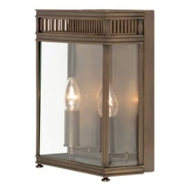 HL7/M DB Holborn Large 2 Light Solid Brass Outdoor Wall Lantern in a Dark Bronze Finish