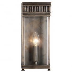 HL7/S DB Holborn Small Single Light Solid Brass Outdoor Wall Fitting in Dark Bronze Finish