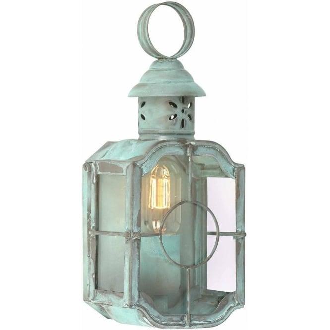 Dark Verdigris Green Ornate Pedestal Light: Elstead Lighting Kennington Single Light Solid Brass