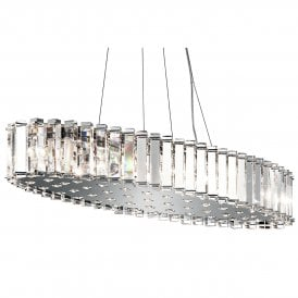 Kichler Crystal Skye 12 LED Over Island Ceiling Fitting In Crystal And Polished Chrome Finish