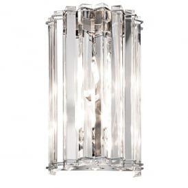 Kichler Crystal Skye 2 Light Wall Fitting In Crystal And Polished Chrome Finish