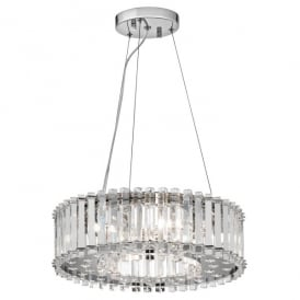 Kichler Crystal Skye 6 Light Ceiling Pendant In Crystal And Polished Chrome Finish