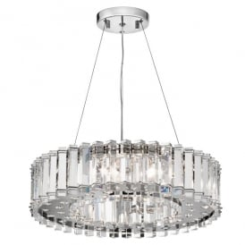 Kichler Crystal Skye 8 Light Ceiling Pendant In Crystal And Polished Chrome Finish