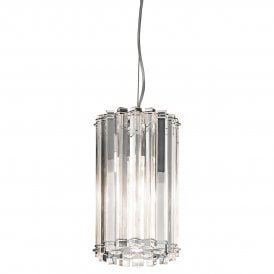 Kichler Crystal Skye Single Light Ceiling Pendant In Crystal And Polished Chrome Finish