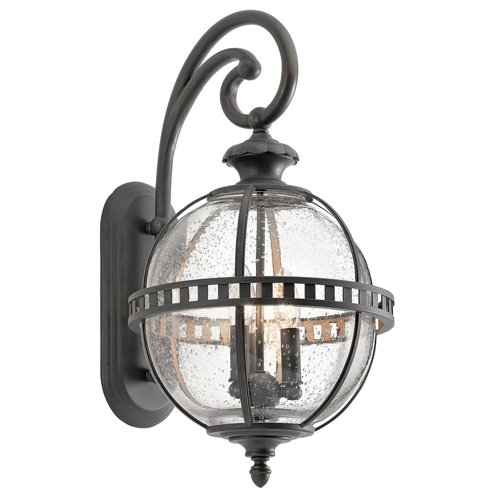 Lantern Type Wall Lights : Elstead Lighting Kichler Halleron 3 Light Outdoor Wall Lantern In Londonderry Finish - Lighting ...