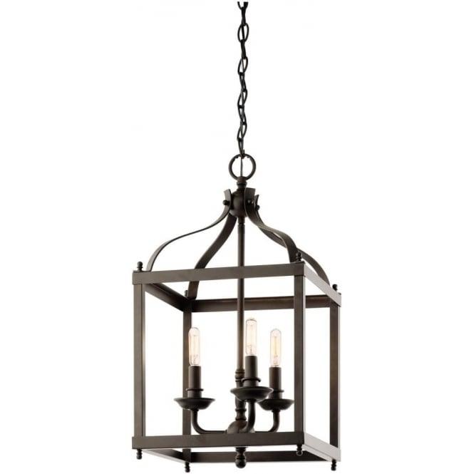 elstead lighting kichler larkin 3 light ceiling pendant in olde