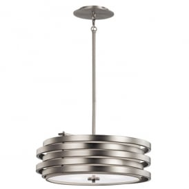 Kichler Roswell 3 Light Ceiling Pendant In Brushed Nickel Finish