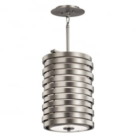 Kichler Roswell Single Light Ceiling Pendant In Brushed Nickel Finish