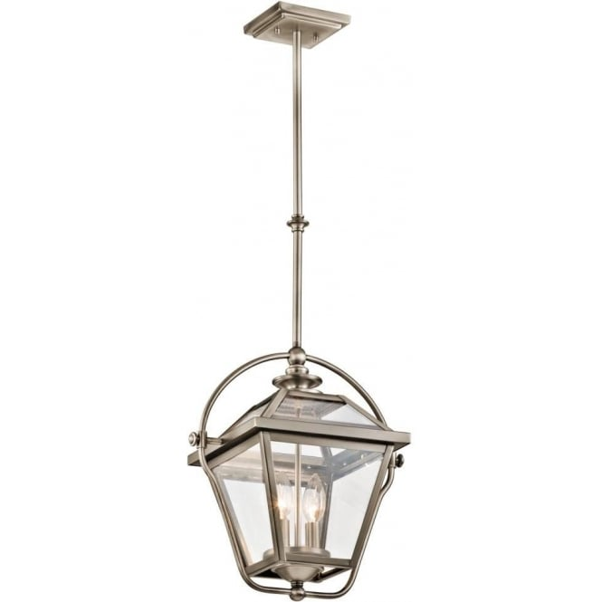 Kichler ryegate 2 light ceiling pendant in antique pewter finish
