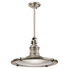 Kichler Sayre Single Light Extra Large Ceiling Pendant In Antique Pewter Finish