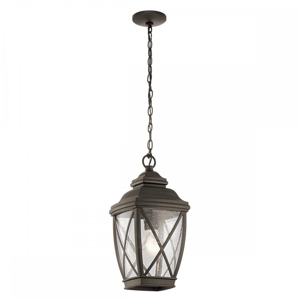 Elstead Lighting Kichler Tangier Single Light Outdoor Ceiling Light In Bronze Finish Castlegate Lights