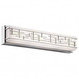Kichler Zolon Large Bathroom Wall Fitting in Polished Chrome Finish With Opal Glass Shade