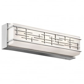 Kichler Zolon Medium Bathroom Wall Fitting in Polished Chrome Finish With Opal Glass Shade