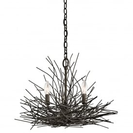 Kitchler Organique 3 Light Mini Chandelier In Olde Bronze Finish