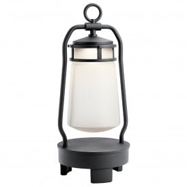 KL/LYNDN BT/A BK Lyndon LED Portable Table Top Lantern In Black Finish With Integrated Bluetooth Speaker