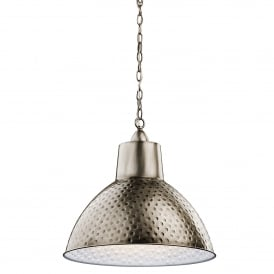 KL/MISSOULA/P/M Missoula Single Light Medium Ceiling Pendant in Antique Pewter Finish