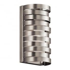 KL/ROSWELL1 Kichler Roswell Single Light Halogen Wall Fitting In Brushed Nickel Finish