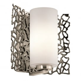KL/SILCORAL1 Kichler Silver Coral Single Light Wall Fitting In Classic Pewter Finish