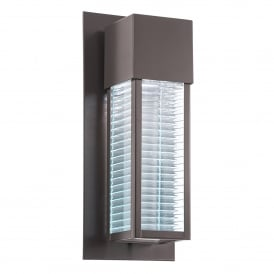 KL/SOREL2/M LED Sorel Single LED Outdoor Wall Light in Architectural Bronze Finish