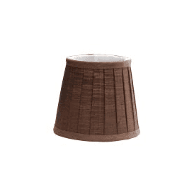 LS161 Eleanor Brown Silk Effect Fabric Shade