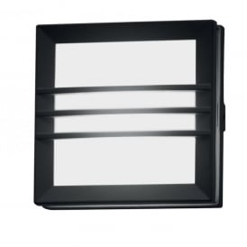 Lutec Mini Seine Single Light Low Energy Bulkhead in Graphite Grey