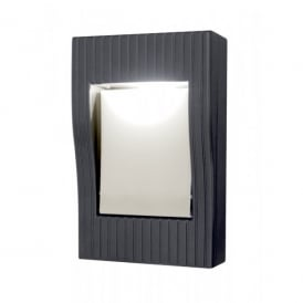 Lutec Rom Single Light Graphite Grey Wall Fitting with Number Display