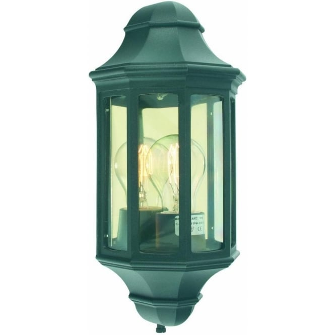 Lantern Type Wall Lights : Elstead Lighting Malaga Mini Flush Wall Lantern in Black - Lighting Type from Castlegate Lights UK