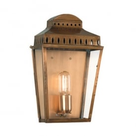 MANSION HOUSE BR Mansion House Single Light Solid Brass Outdoor Wall Lantern in an Antique Finish