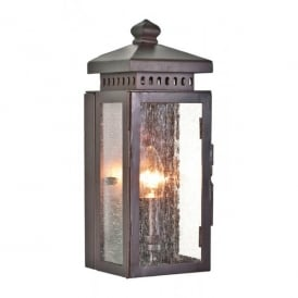 MATLOCK Matlock Single Light Wrought Iron Outdoor Wall Fitting in Old Bronze
