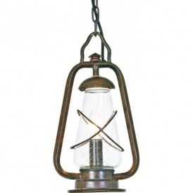 MINERS CHAIN Miners Chain Pendant Lantern in Old Bronze Finish