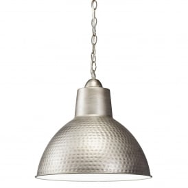 Missoula Single Light Small Ceiling Pendant in Antique Pewter Finish