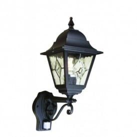 NR1/PIR Norfolk Outdoor Wall Light with PIR in Black Finish