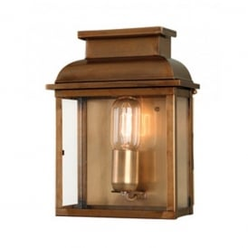OLD BAILEY BR Old Bailey Single Light Solid Brass Outdoor Wall Fitting in Antique Brass Finish