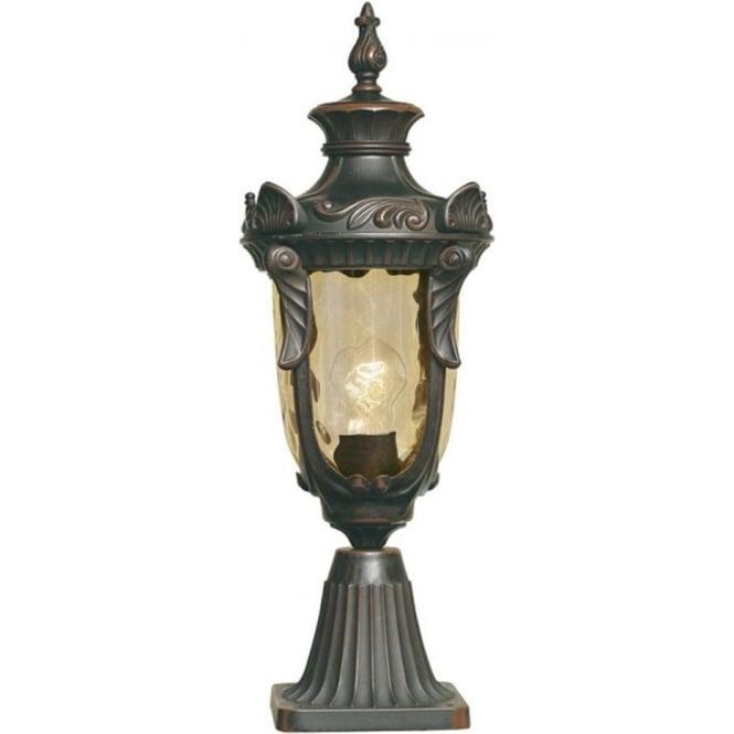 Elstead Lighting Philadelphia Single Light External Wall Pedestal In Old Bron