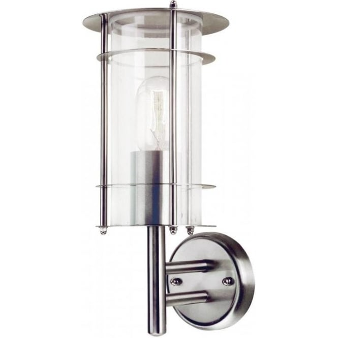 Prague stainless steel outdoor wall lantern prague stainless steel outdoor wall lantern elstead lighting
