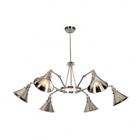 Provence 6 Light Ceiling Chandelier Pendant In Polished Nickel Finish