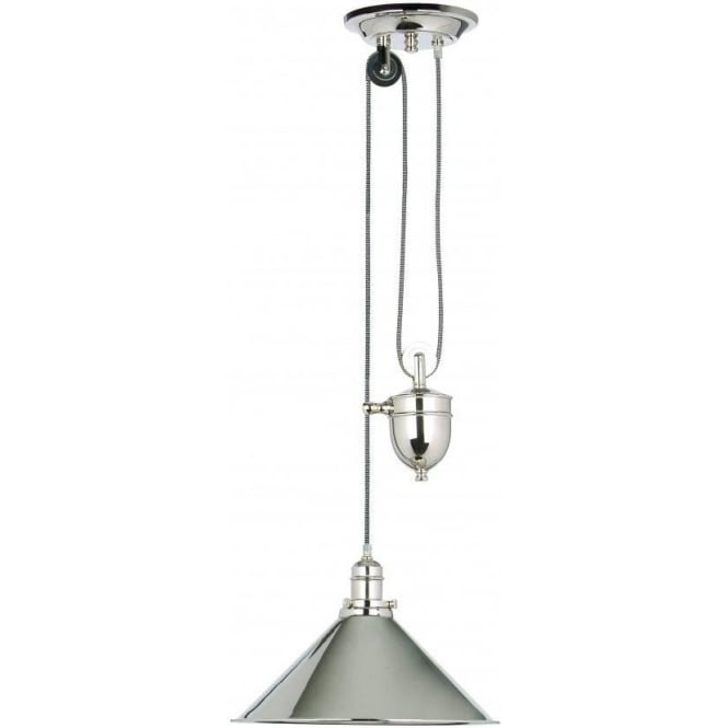 Elstead lighting provence single light rise and fall pendant with provence single light rise and fall pendant with polished nickel finish mozeypictures Images