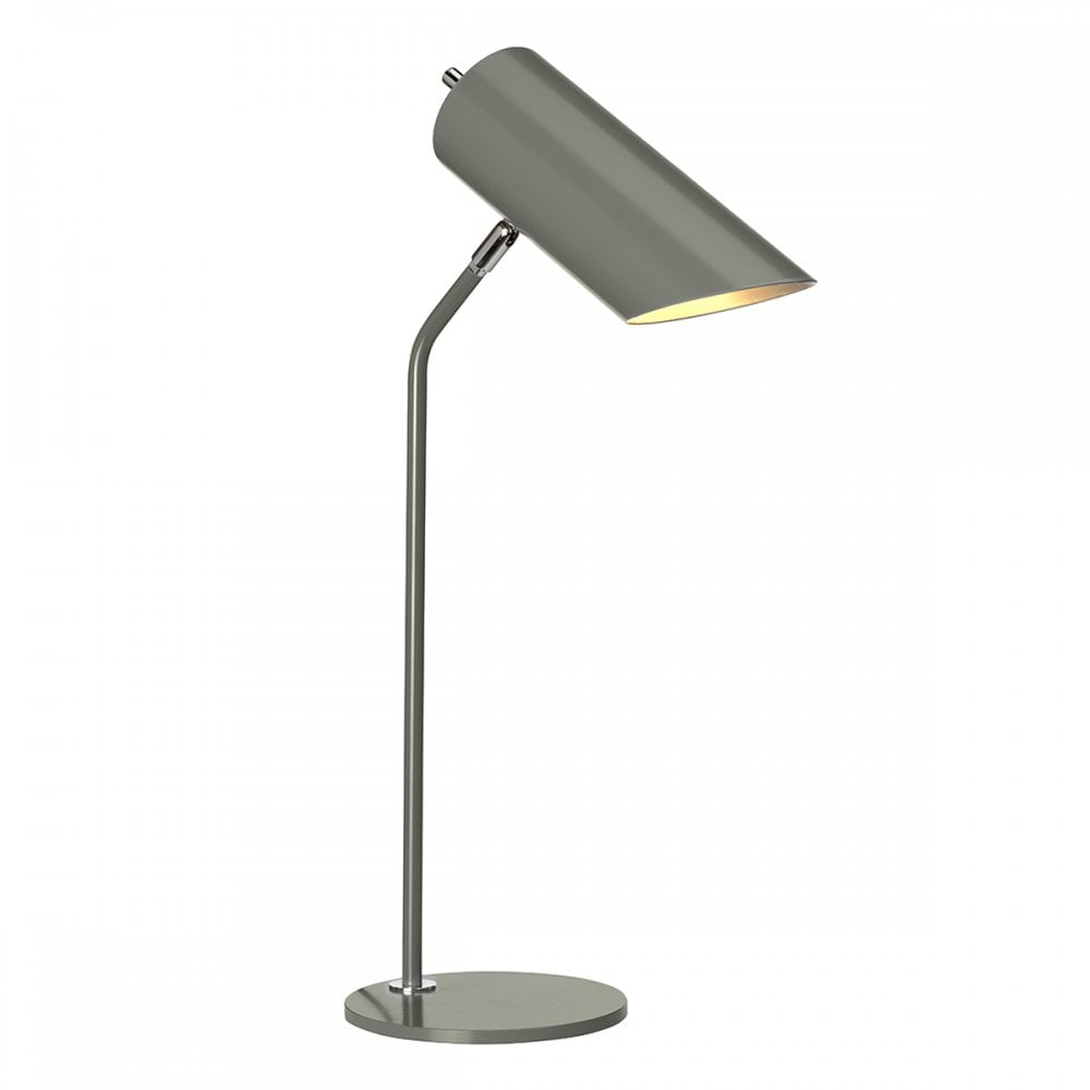 Elstead Lighting Quinto Single Light Table Lamp In Dark Grey And